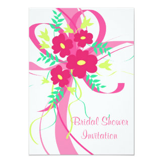 Flowers and ribbon - Invitation
