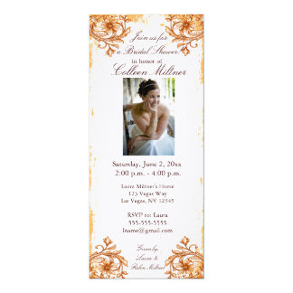 Flowers and Scrolls Personalized Invites