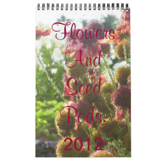 Flowers And Seed Pods. Calendar