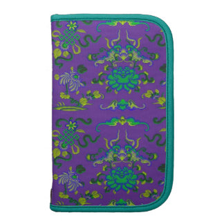 Flowers and Shapes on Purple Organizers
