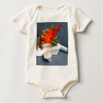 Flowers and Shoes Baby Bodysuit