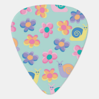 Flowers and Snails Guitar Pick