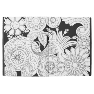 """Flowers and Spirals V2: DIY Coloring: by Sonja A.S iPad Pro 12.9"""" Case"""