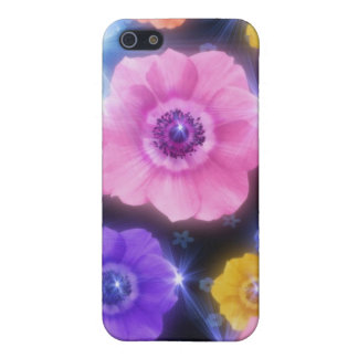 Flowers and Starbursts Cover For iPhone SE/5/5s