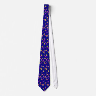 Flowers and stars tie