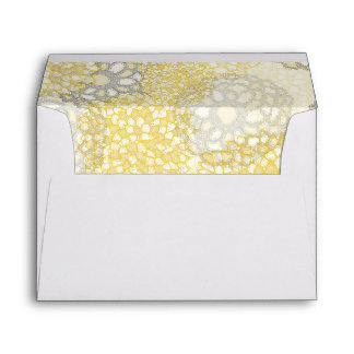 Flowers and String Lights Wedding Envelopes