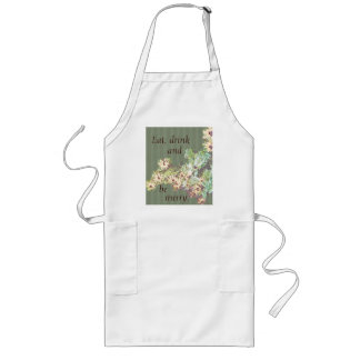 Flowers and Stripes Apron