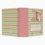 Flowers and Stripes New Baby Book Binder
