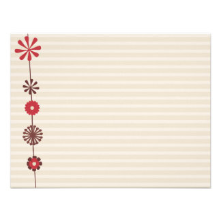 Flowers and Stripes Note Cards Custom Invitation