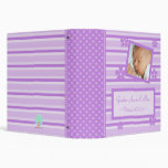 Flowers and Stripes Purple Baby Book Binder