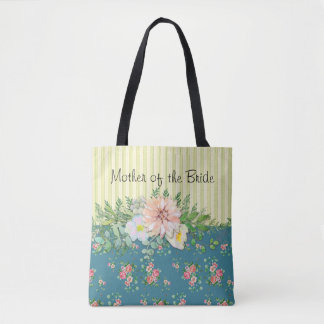Flowers and Stripes Tote Bag