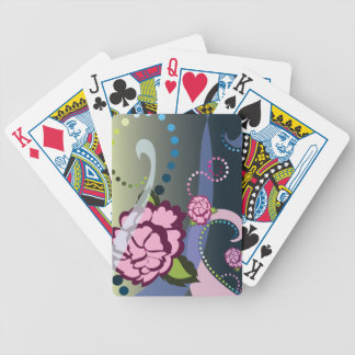 Flowers and swirls card bicycle playing cards