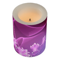 Flowers and Swirls Flameless Candle