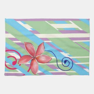Flowers and Swirls Kitchen Towel