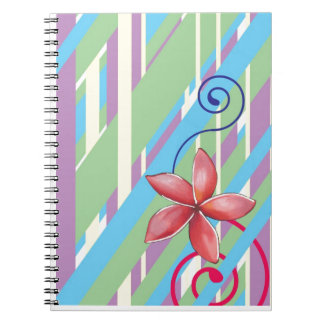 Flowers and Swirls Spiral Note Book