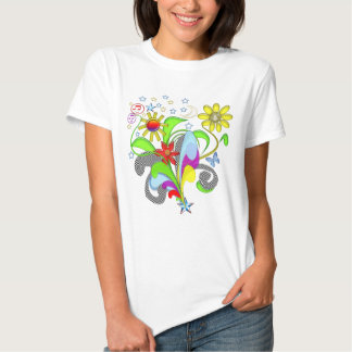 Flowers and Swirls T-shirts and Gifts