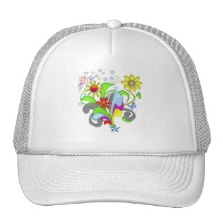 Flowers and Swirls T-shirts and Gifts Trucker Hat