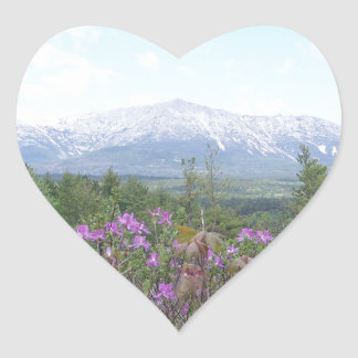 Flowers and the Mountain Heart Stickers