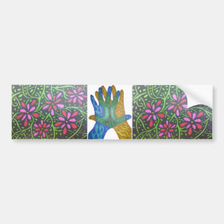 Flowers and Tree Car Bumper Sticker