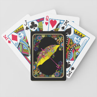 Flowers and Umbrella Playing Cards