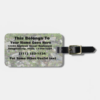 flowers and vines on river rocks florida scene tags for luggage