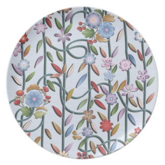 Flowers and vines plate