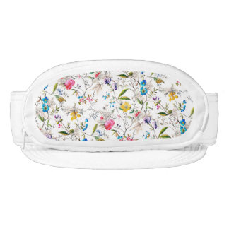 Flowers and Vines Textile Print Visor