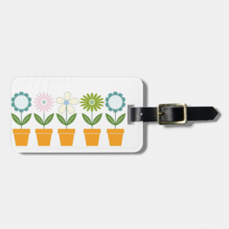 Flowers and Watering Can Gardening Fun Luggage Tag