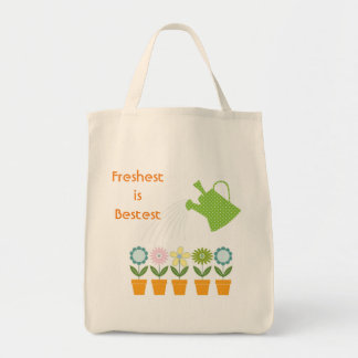 Flowers and Watering Can Gardening Fun Tote Bag