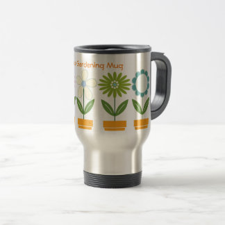 Flowers and Watering Can Gardening Fun Travel Mug
