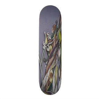 Flowers and Waves Skateboard