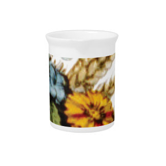 flowers and wheat beverage pitcher