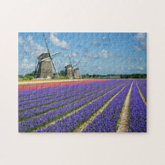 Flowers and windmills jigsaw puzzle