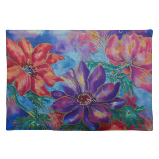 Flowers - Anemones III Cloth Placemat