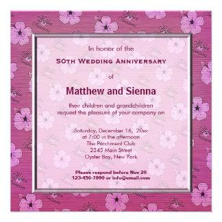 Flowers Anniversary Personalized Invite