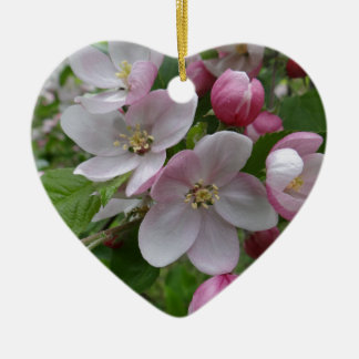Flowers Apple Blossom Pink Pattern Art Christmas Ornament