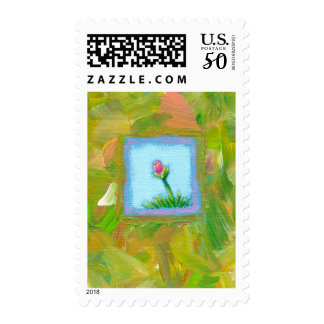 Flowers are Recession Proof fun unique art Postage