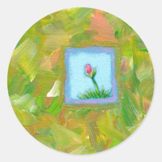 Flowers are Recession Proof fun unique modern art Classic Round Sticker