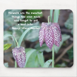 Flowers are the sweetest thing... mouse pad