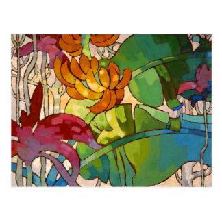 'Flowers' - Arman Manookian Postcard