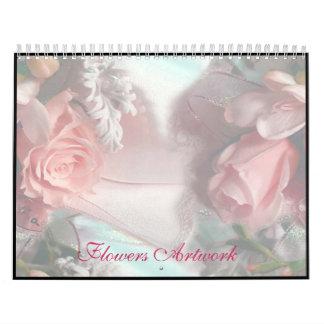Flowers Artwork Calendar