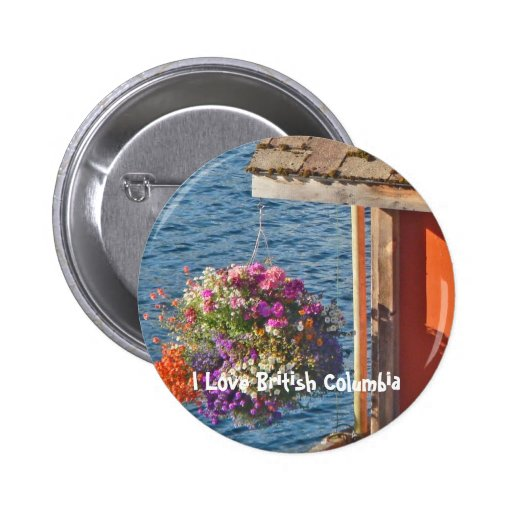 Flowers at Boathouse 3 Pinback Buttons
