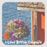 Flowers at Boathouse 3 Square Stickers