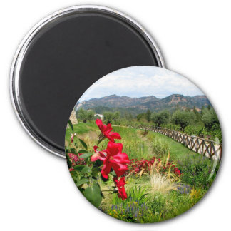Flowers at Castello di Amorosa Magnets