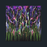 """Flowers At Midnight Abstract Canvas Print<br><div class=""""desc"""">Through the dark of the night, the wildflowers appear to be reaching to the stars. Perhaps the flowers can feel the warmth of the stars. Or perhaps, the stars are mesmerized by the beauty of the flowers. Either way, it&#39;s apparent that they belong together. It&#39;s just supposed to be this...</div>"""