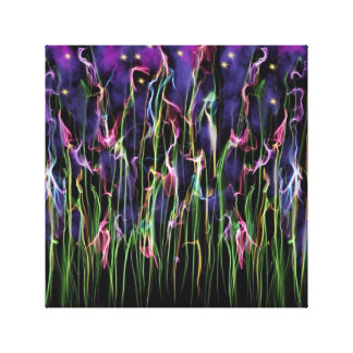 Flowers At Midnight Abstract Canvas Print