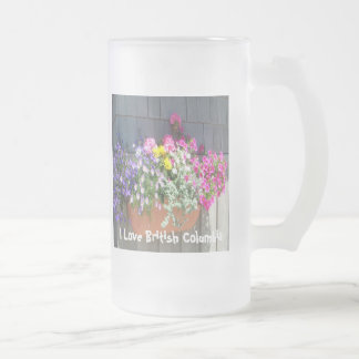 Flowers at the Boathouse Frosted Glass Beer Mug