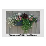 Flowers at the Boathouse II Poster