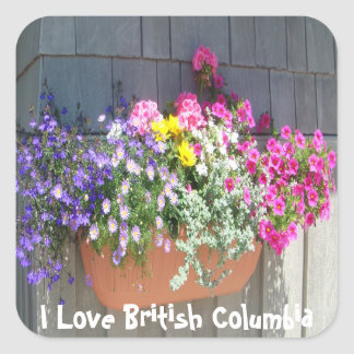 Flowers at the Boathouse Square Sticker