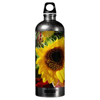 Flowers at the farmers market aluminum water bottle